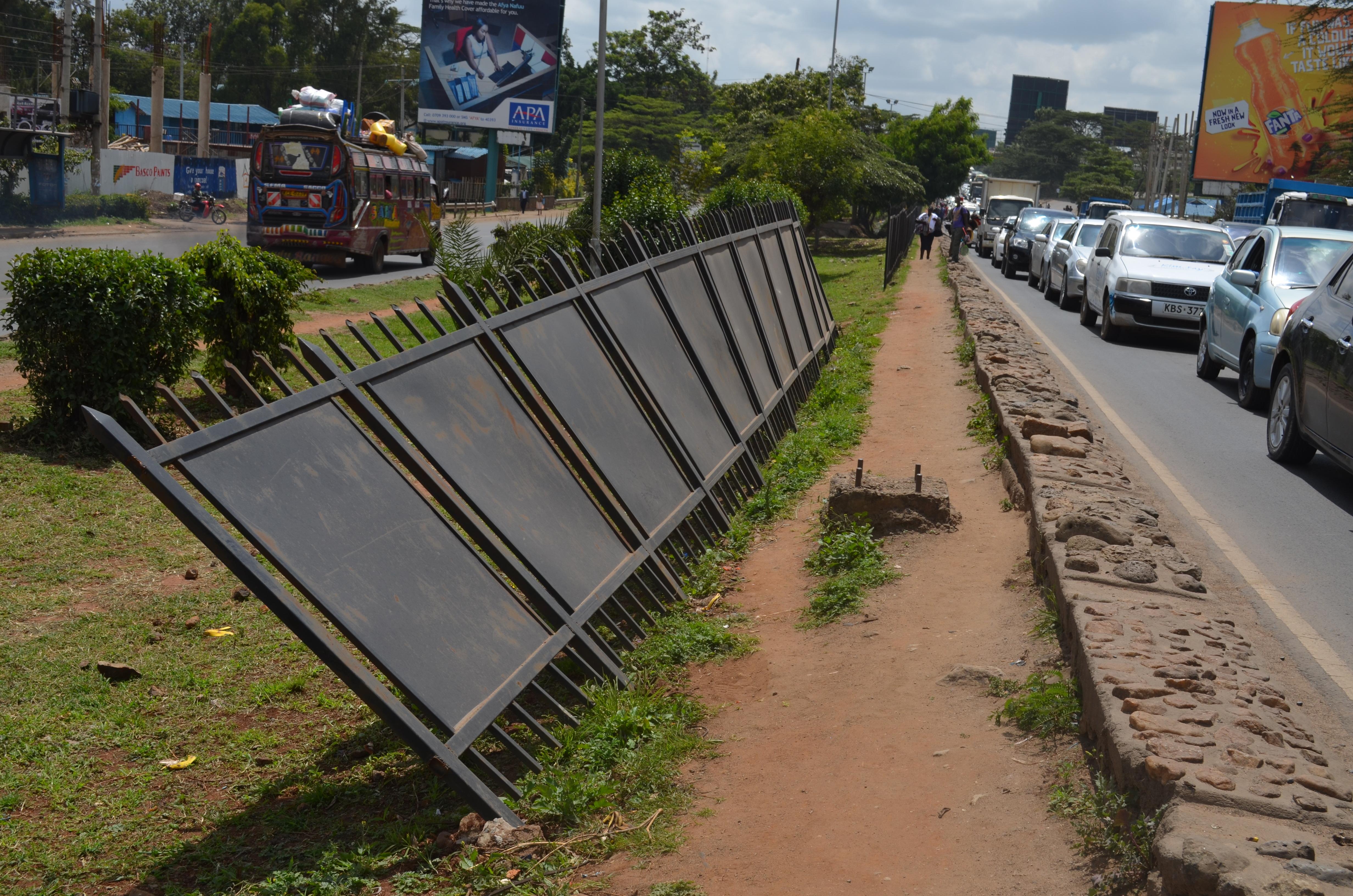 Vandalism on Kenya's major highways